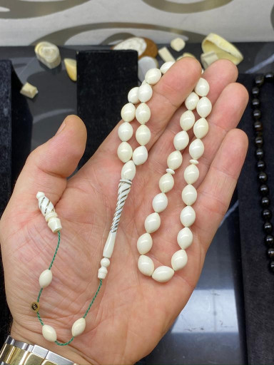 SPECIAL MASTER Hand Craft DRILLING AND CARVED IVORY TESPIH