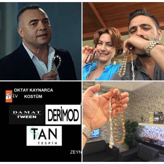 Özel Usta İşçilikli Trabzon Kazazlı Ateş Kehribar Tesbih
