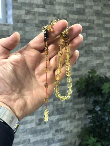 Şeffaf Su Damlası Fosilli Baltık Naturel Amber Limited Edition Damla Kehribar Tesbih