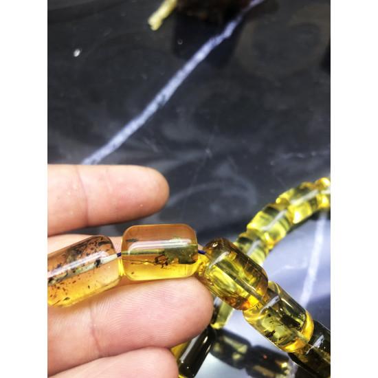 Gold Edition Baltık Naturel Amber Damla Kehribar Tesbih