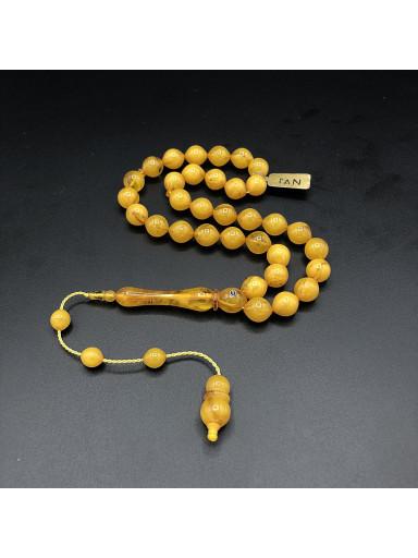 Altın Rengi Amberoid Tesbih ART-10001